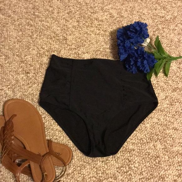 3e80b325ddc22 aerie Swim   Black High Waisted Bikini Bottom Size Medium   Poshmark